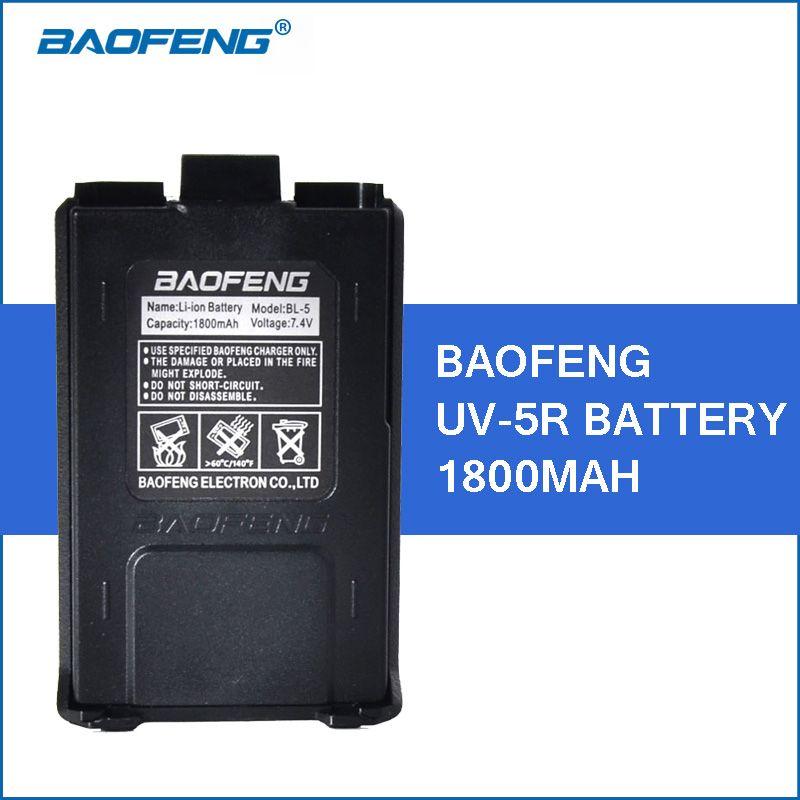 Baofeng UV-5R Li-ion Batterie 1800 mah Talkie Walkie Accessoires pour Baofeng UV5R Portable Talkies-walkies Pièces UV 5R Batterie