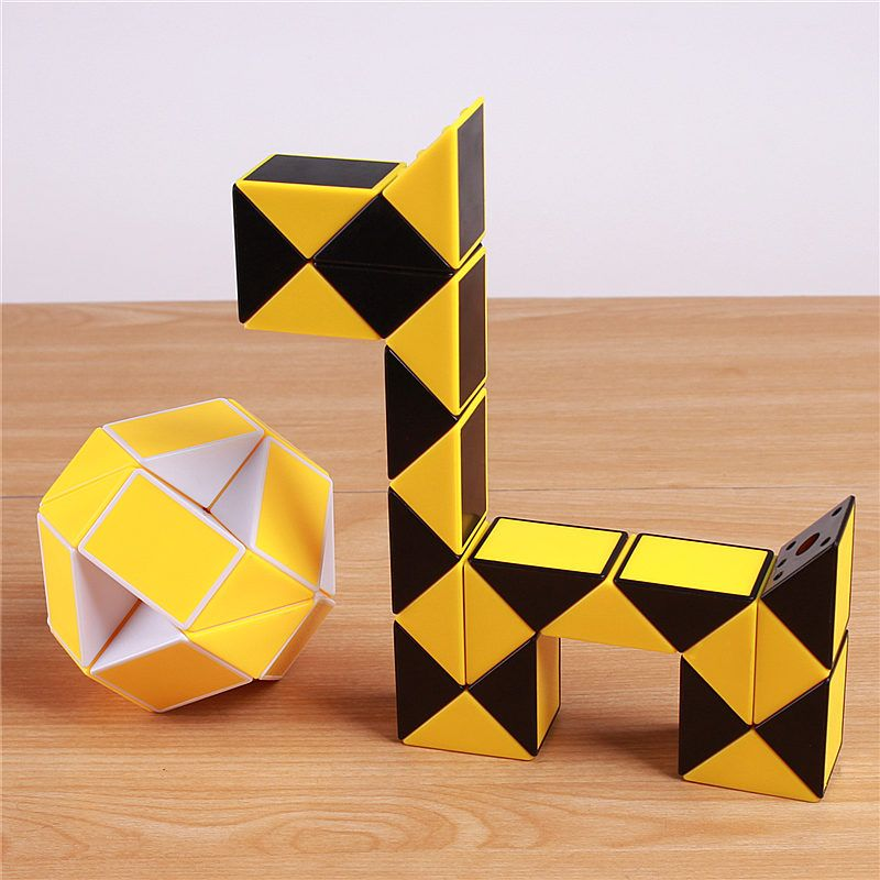 Règle originale de Puzzle de serpent de Cube magique de vitesse torsion 24 blocs jouets éducatifs drôles pour des enfants
