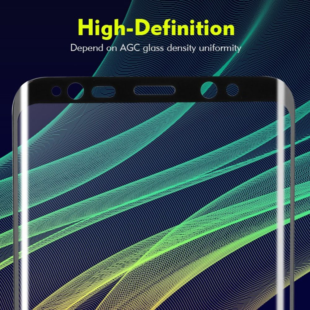 3D Round Curved Tempered Glass For Samsung S8 Vacuum Coating Film For Samsung Galaxy S8 Plus Ultra-Thin Screen Protector