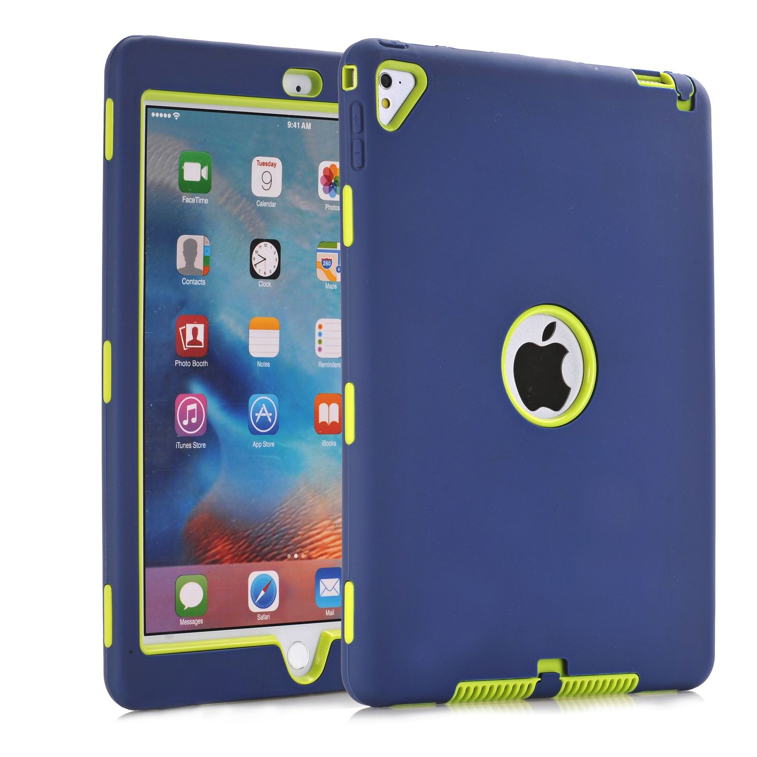 For iPad Pro 9.7,For iPad Air 2 Case Retina Kids Baby Safe Armor <font><b>Shockproof</b></font> Heavy Duty Silicone Hard Case Cover For iPad Air2