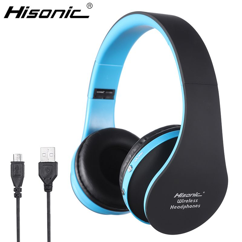 Hisonic Bluetooth Headset Wireless Headphones Stereo Foldable Sport Earphone Microphone headset bluetooth earphone SUN8252
