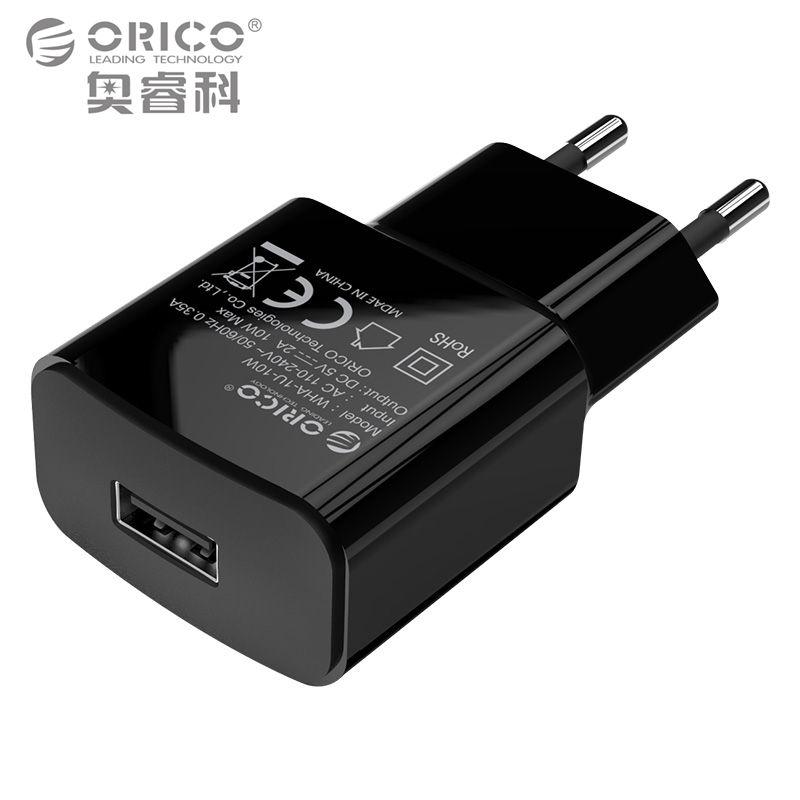 ORICO мобильного телефона Зарядное устройство 5v1a5w/5v2a10w USB путешествия Зарядное устройство Портативный стены адаптер ЕС Plug черный/белый