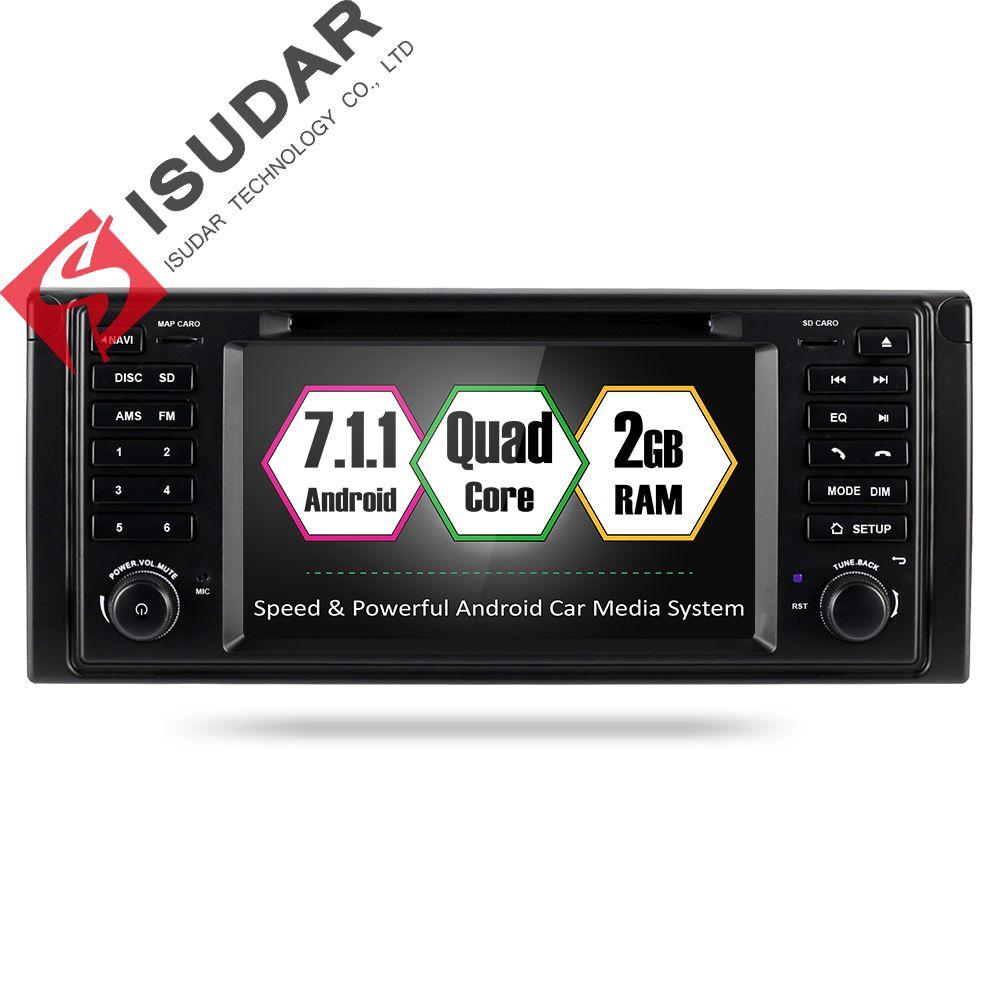 Isudar Car Multimedia Player GPS Android 7.1 2 Din Car DVD Playe Autoradio for BMW/E39/X5/E53 Canbus Radio fm DSP dvd automotivo