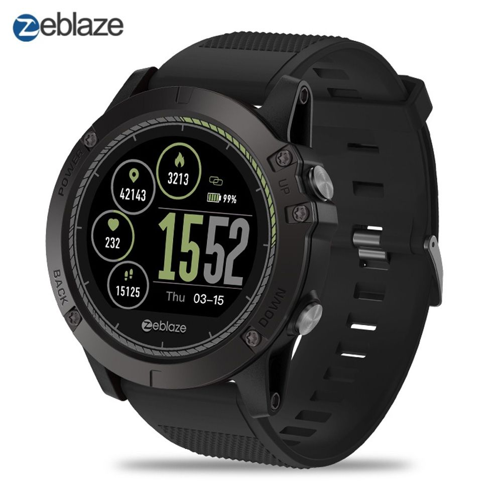 NEW Zeblaze VIBE 3 HR Sports Smart Watch Bluetooth 4.0 IP67 Waterproof Call Message Reminder Heart Rate Monitor Blood Pressure