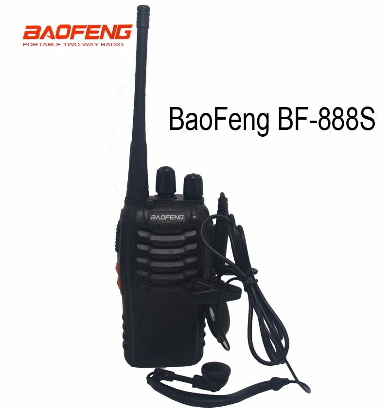 Hot baofeng BF-888S Walkie Talkie Comunicador Transmitter Transceiver Portable Radio BF888s 5W 16CH UHF BF 888S with headset