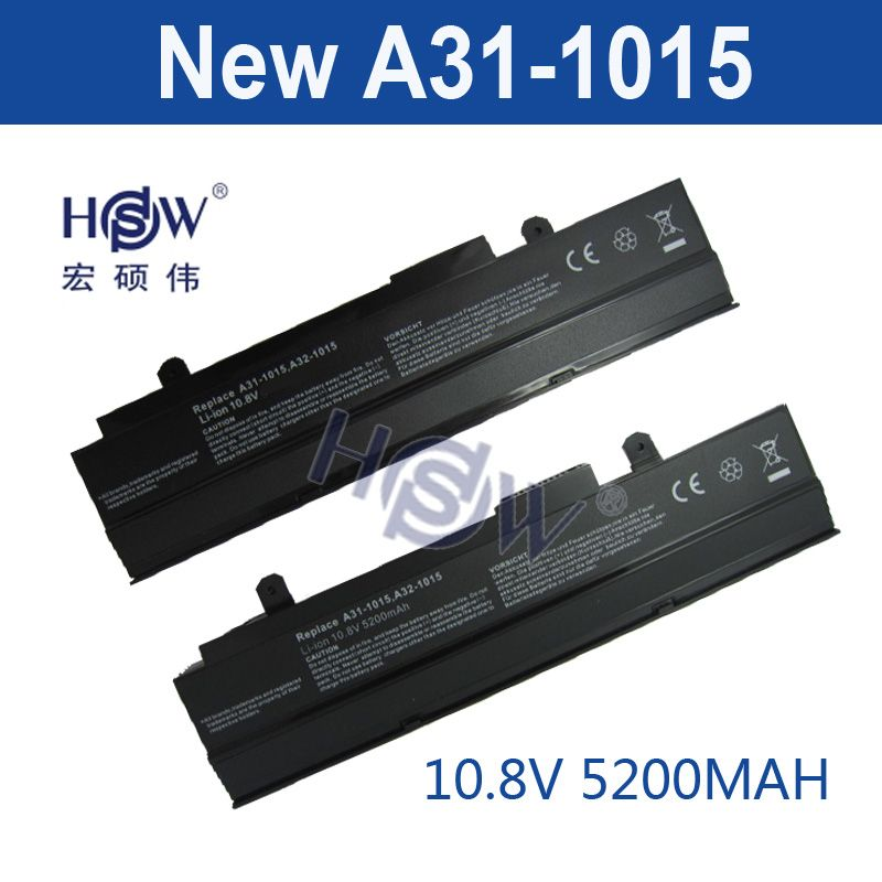HSW 5200 mah 6 zellen neue laptop-batterie für ASUS A31-1015, A32-1015, AL31-1015, PL32-1015, Eee PC 1015,1016, 1215 VX6 bateria akku