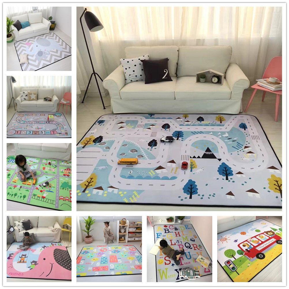 150X200CM Thick Cartoon Carpets For Living Room Soft Rugs For Bedroom Children Play Crawl Floor Mat Anti-Slip Carpet Kids Room