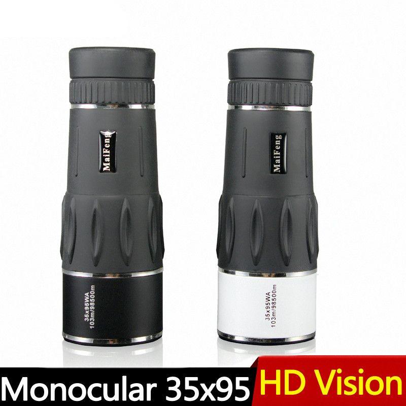 New 35X95 Hunting Monocular Zoom HD Telescope Travel High Power Magnification Quality Binoculars Bird Watching Monoculo Spyglass