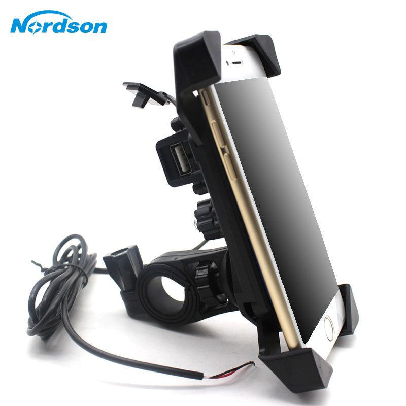 NEW Motorcycle Phone Holder With USB Charger Mobile Phone Holder for Electric Car Motorbike Mountain <font><b>Bike</b></font> Holder