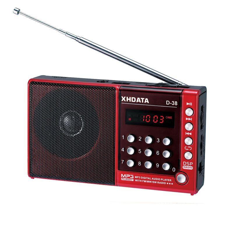 XHDATA D-38 FM-stéréo/MW/SW/écran MP3-Player/DSP Vollband Radio (manuel d'utilisation anglais/allemand/japonais/russe)