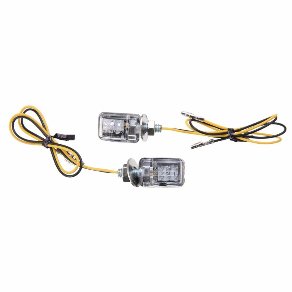 2 stücke 12 V Motorrad 6 LED Mini Blinker Blinker-anzeige Blitzlampe Bernstein Universal für Honda Kawasaki Suzuki