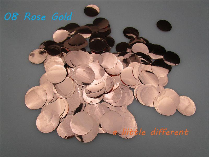 2.5 cm (1 pouces) 1 kg/bag Or Rose Mariage Jetant PVC Confettis Pour Remplissage De Ballon Bébé Douche D'anniversaire Table de fête Décoration