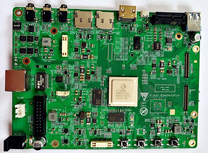 Für HSI entwicklung bord Hi3559A panorama montage unterstützung H264H265 encoding 8 karat senden SDK PCB und schematische darstellung