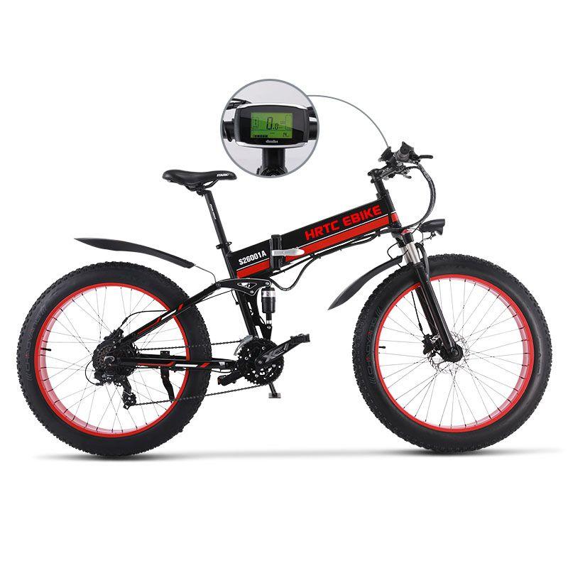 26 inch elektro mountainbike fett ebike 48V750W elektrische fahrrad Weichen schwanz e-bike falten rahmen Maximale geschwindigkeit 45 km/h EMTB