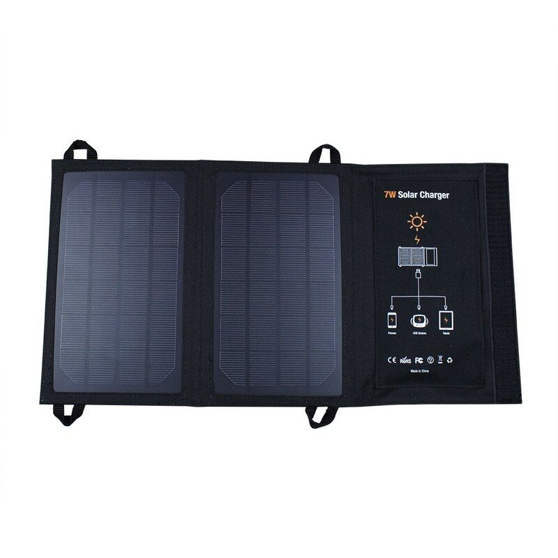 5 V 7 W Sunpower Panneau Solaire Haute Taux de Conversion pour Samsung iPhone USB Chargeur Monocrystall Solaire Power Bank