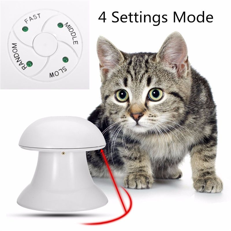 New Arrived 360 Degree Automatic Interactive Dart Laser Light <font><b>Exercise</b></font> Teaser Fun <font><b>Exercise</b></font> Pet Puppy Toy For Cat Dog Funny