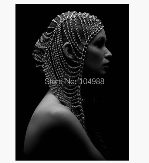 NEW ARRIVALS NEW STYLE B518 WOMEN FASHION SILVER COLOUR CHAINS HEAD JEWELRY MULTI-LAYERS BODY JEWELRY 3 COLORS