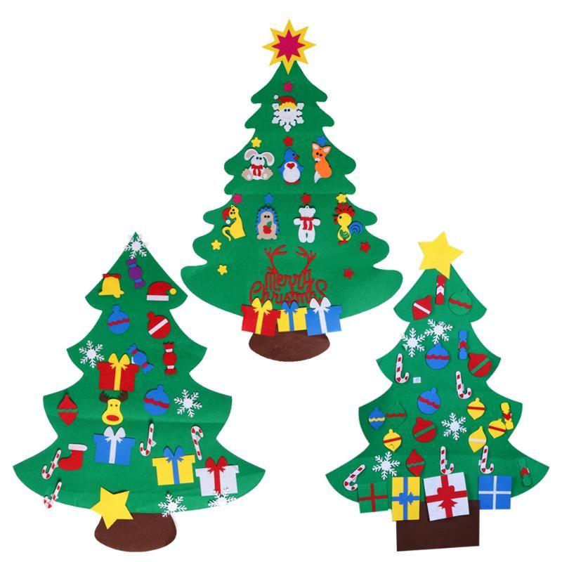 DIY стерео Фетр Рождество дерево с Аксессуары двери стене висит подарки Украшения с образовательной подарки для детей рождественские украше...