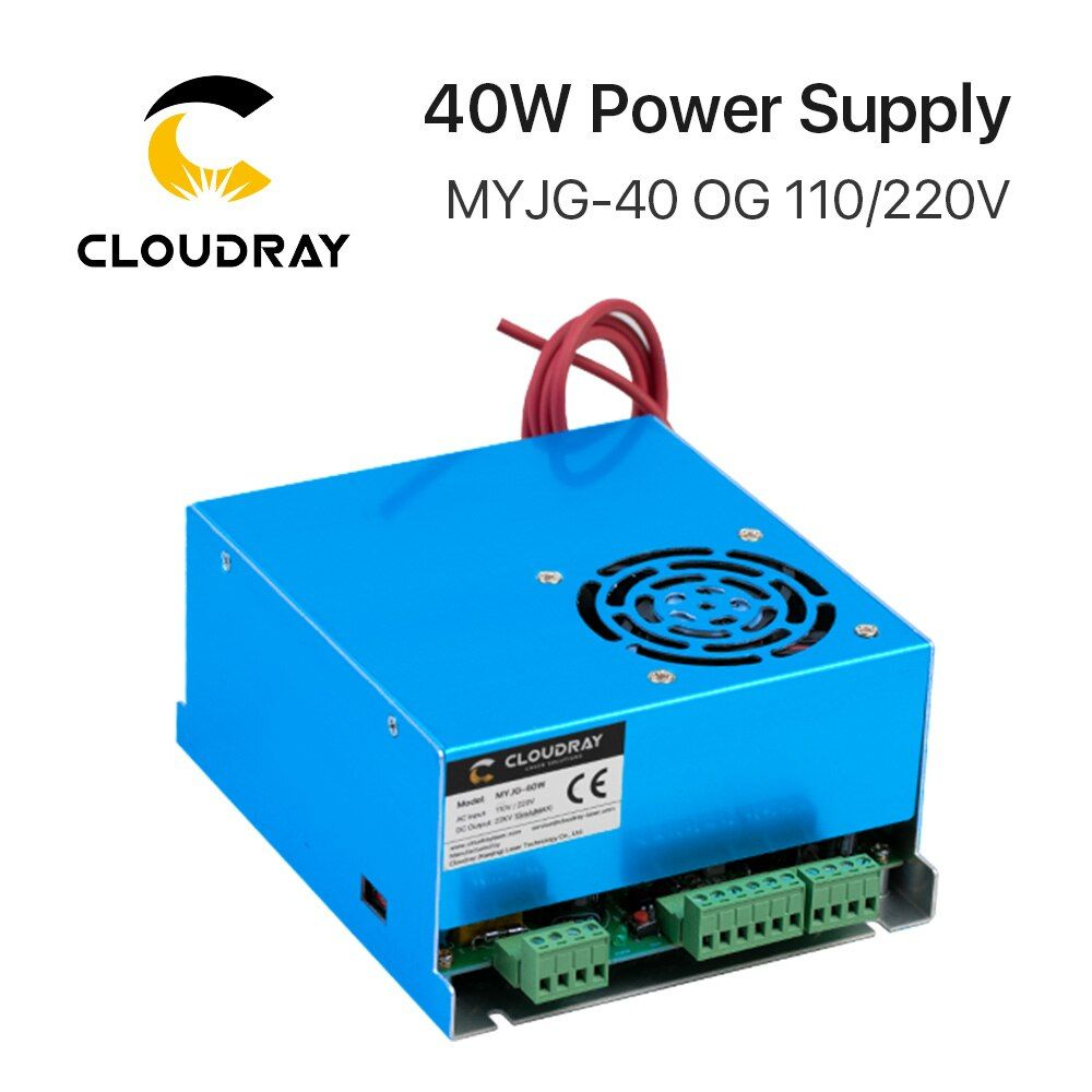 Cloudray 40W CO2 Laser Power Supply MYJG 40WT 110V/220V for Laser <font><b>Tube</b></font> Engraving Cutting Machine Model A