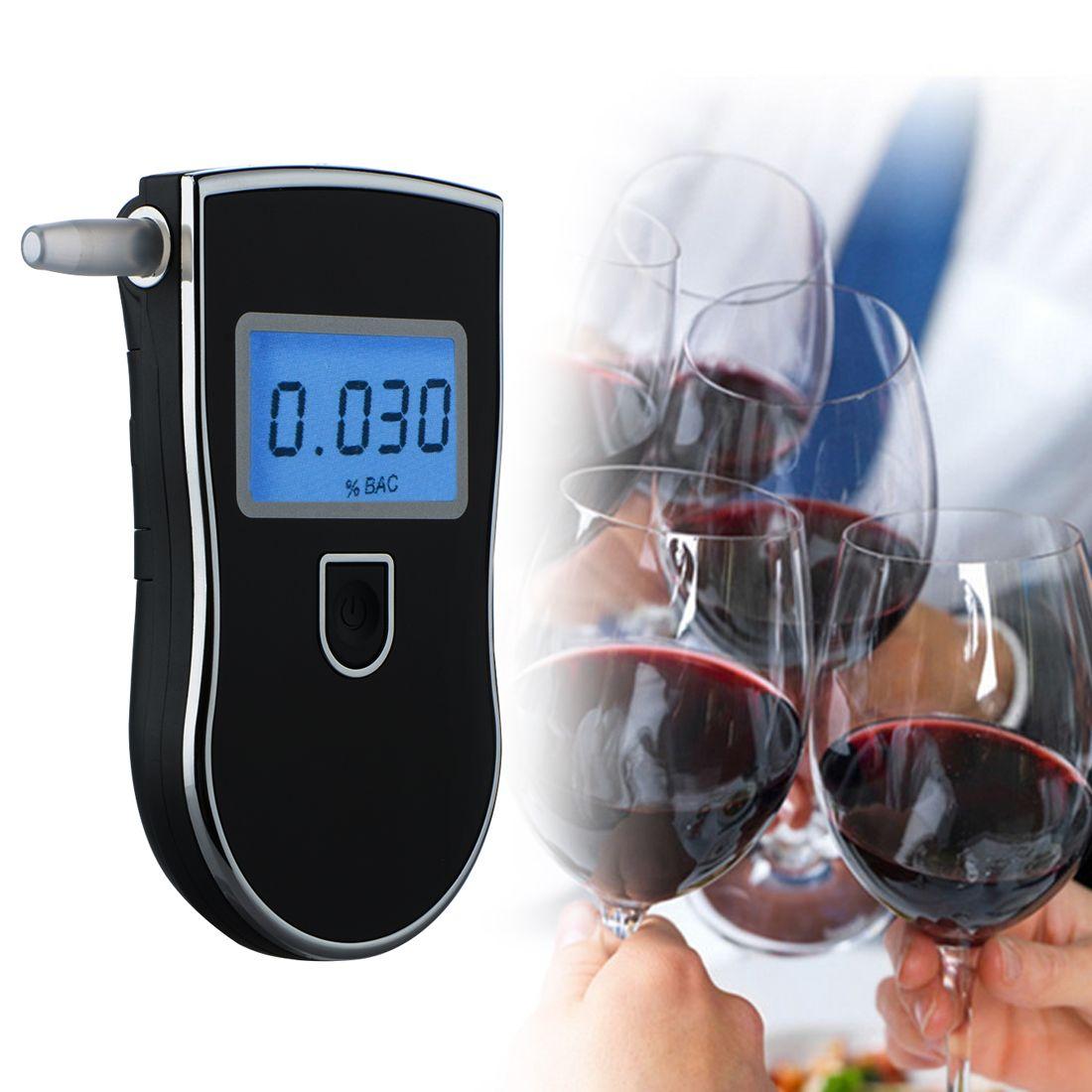 Police professionnelle Numérique LED Alcootest Testeur D'alcoolémie AT818 + 5 pièces embouchures