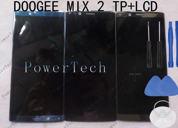 New MIX 2 Front Panel Touch Glas Digitizer mit LCD-display für doogee mix 2 Handy FREIES VERSCHIFFEN