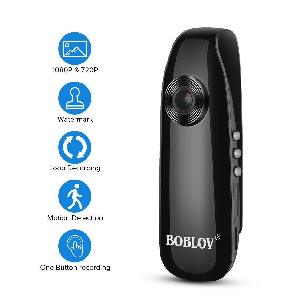BOBLOV 1080P Full HD Mini Camera Digital Video Recorder Dash Cam Police Body Bike H.264 Camcorder Wide Angle