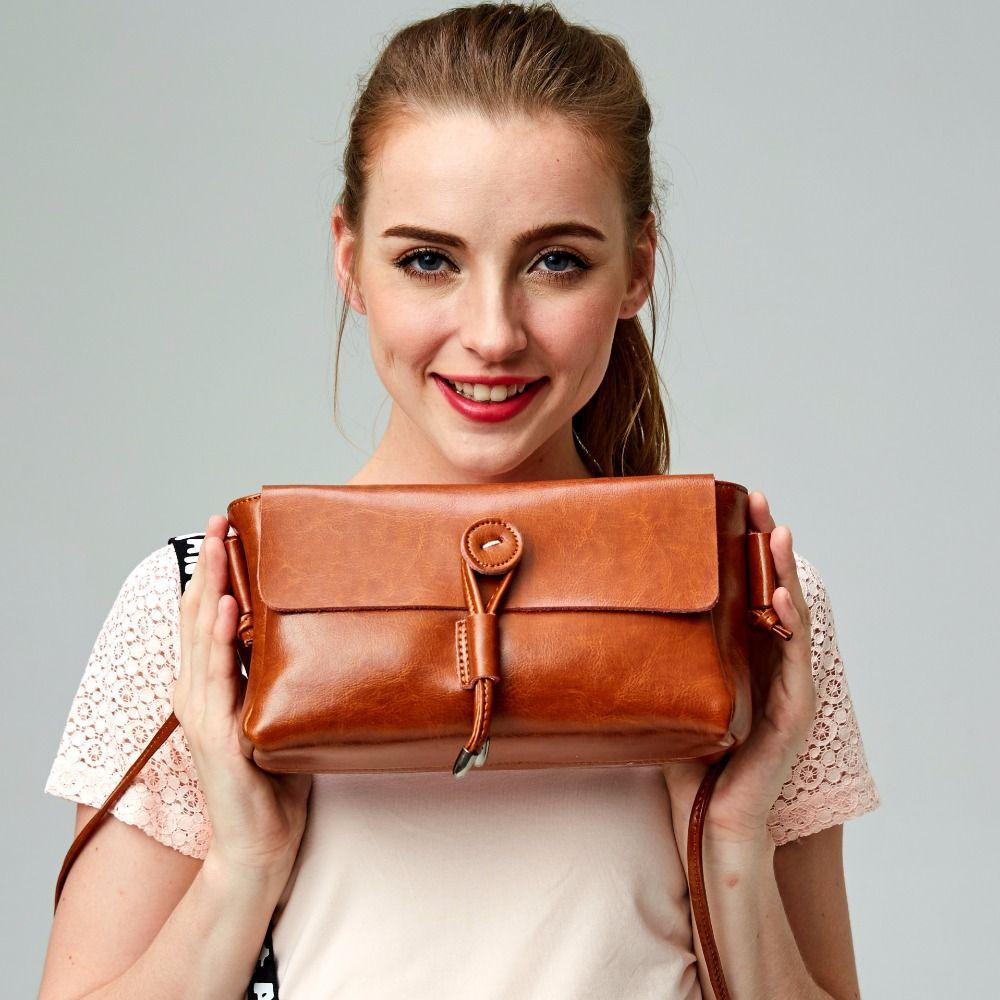 hot sale 2016 women messgeger 100% genuine leather flap shoulder bags female bag high quality real skin vintage style handbags