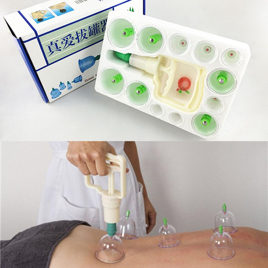 12Pcs Family Body Massage Helper Anti Cellulite Vacuum Silicone Cupping Cups Brand new and High quality C839