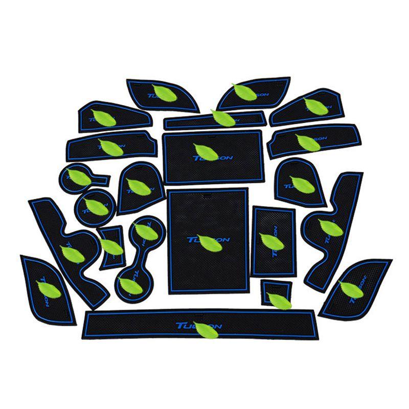 Livraison Gratuite De Haute Qualité Gel De Silice Porte Groove Mat Porte fente mat Coupe Non-slip mat Pour 2015-2016 Hyundai Tucson 22 PCS