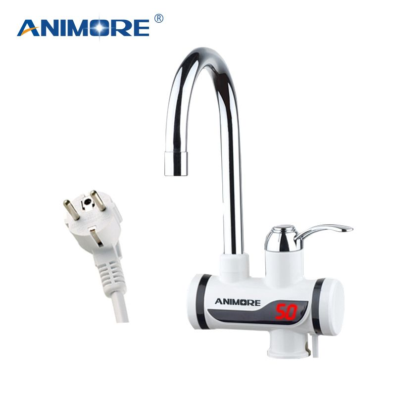 ANIMORE Electric Tankless Water Heater Instant Hot Water Faucet Heater Cold Heating Faucet Electric Instantaneous Water Heater