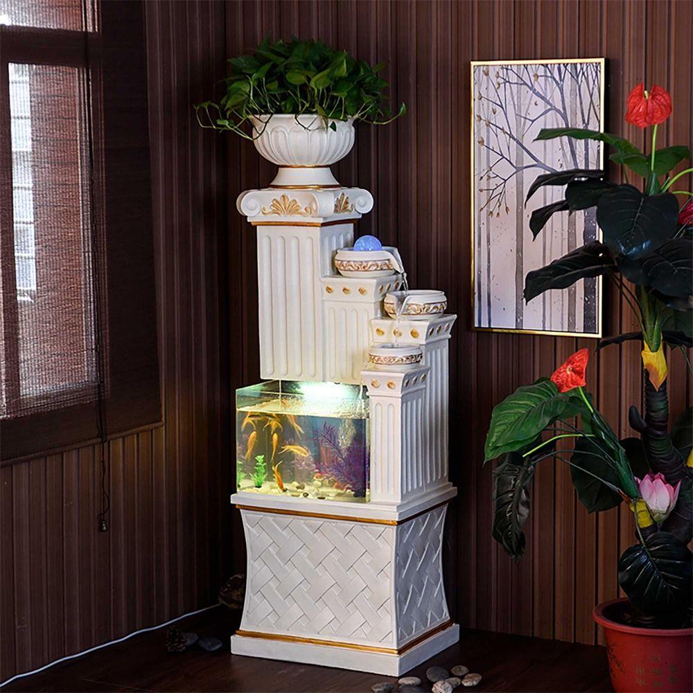 Aquarium Aquarium Wasser Cascade Römischen Spalte Säule Sockel Stand home zimmer büro Dekoration Innen Wasser Funktion wasserlandschaft