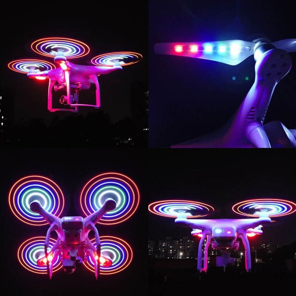 2 Pairs 9450 Propellers CW CCW Blades Rechargeable LED Light Flash Props for DJI Phantom 3 Standard Advanced Professional SE
