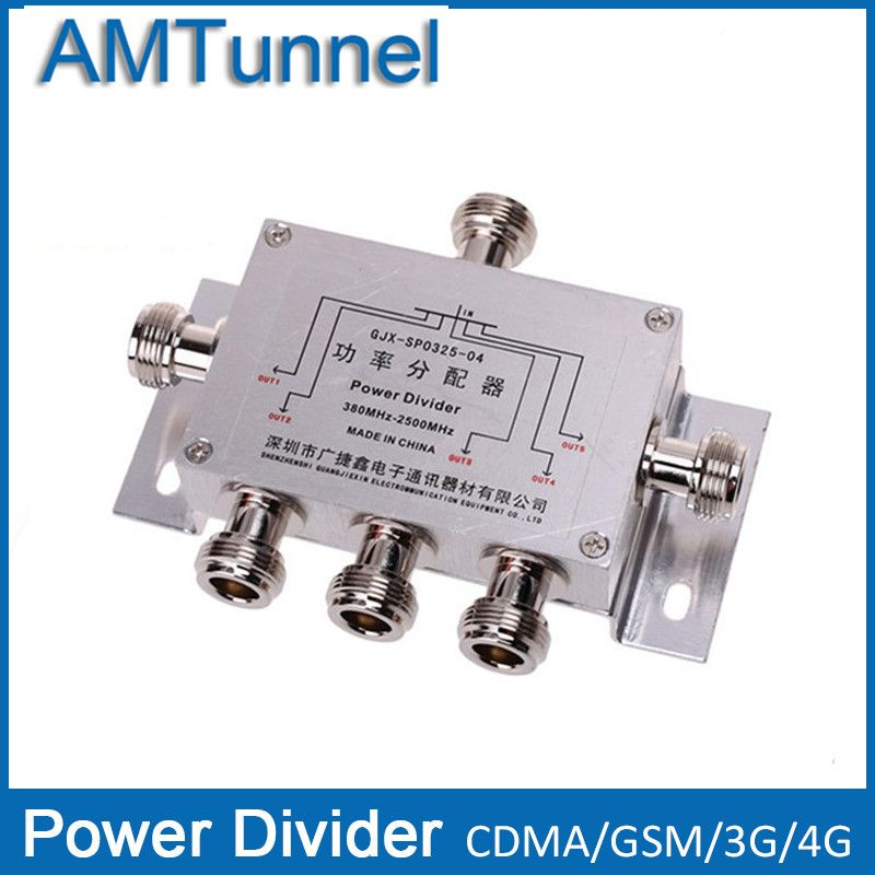Power Splitter Divider 5 Way Cavity N type 380-2500MHz For 3G CDMA GSM Cell Phone Signal Booster Repeater and antenna