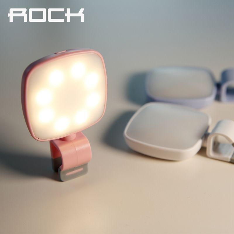 ROCK O2 Téléphone Selfie Lumière Mobile Téléphone Caméra Flash Led lumière