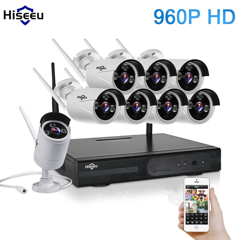 CCTV System 960P 8CH HD Wireless NVR KIT Outdoor IR Night Vision Home Security System Surveillance IP Camera Wifi Camera Kit 42