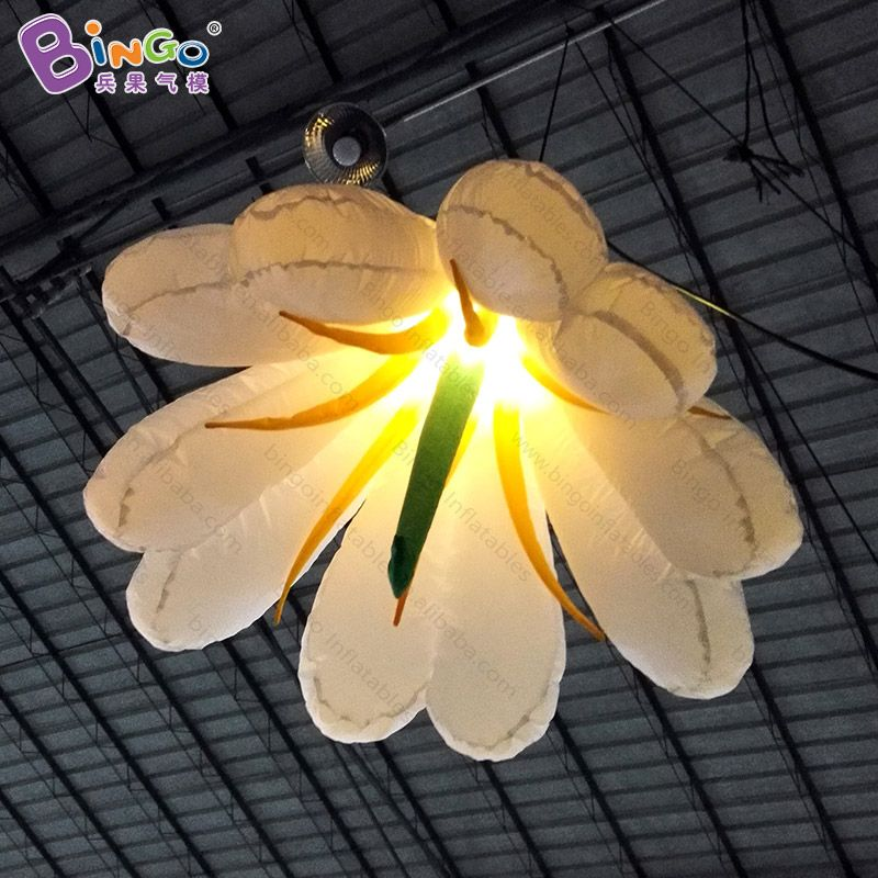 Free shipping LED lighting 1.5m giant inflatable flower decoration for wedding party hanging lily models toys balloon for sale