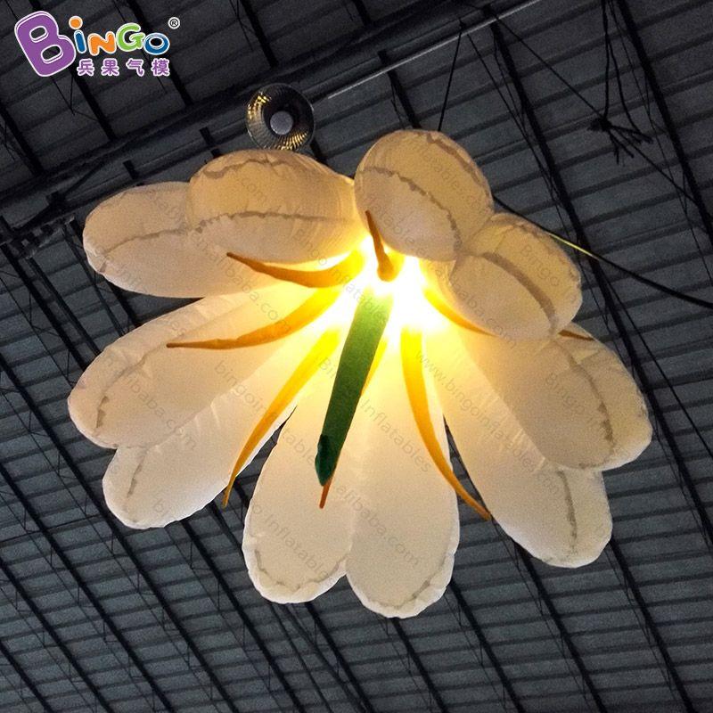Freies verschiffen led-beleuchtung 1,5 mt riesigen aufblasbaren blume dekoration für hochzeit hängen lilie modelle spielzeug ballon für verkauf