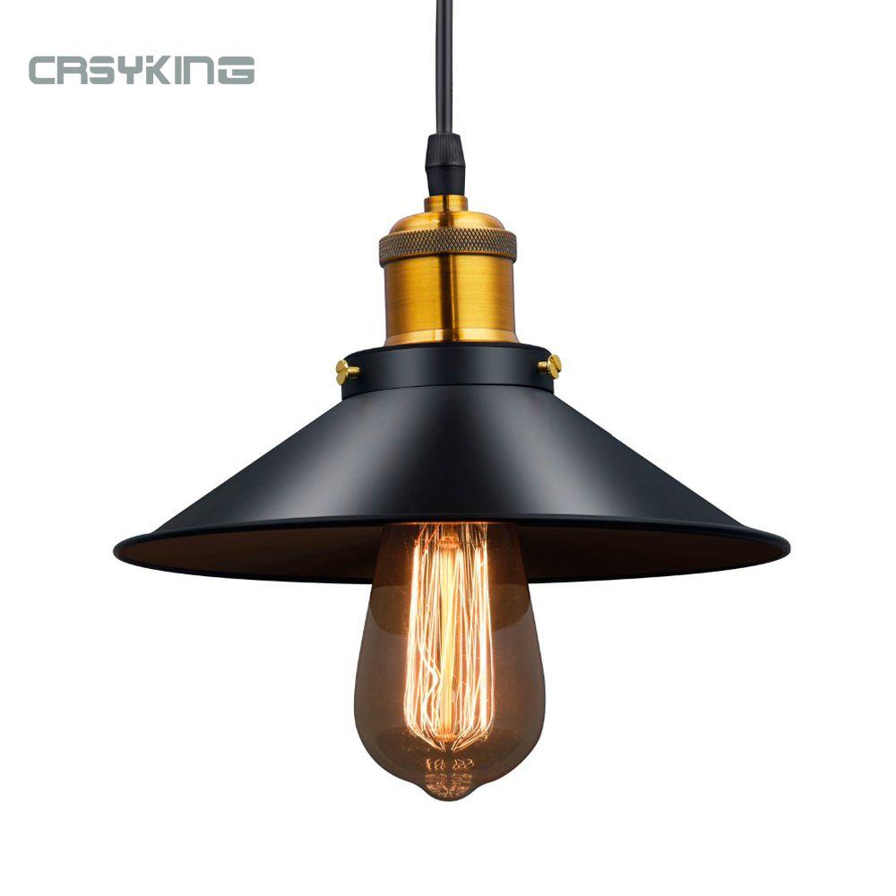 Vintage industriel suspension lumière rétro plafonnier noir fer abat-jour nordique E27 Edison lampe pour salle à manger chambre Restaurant