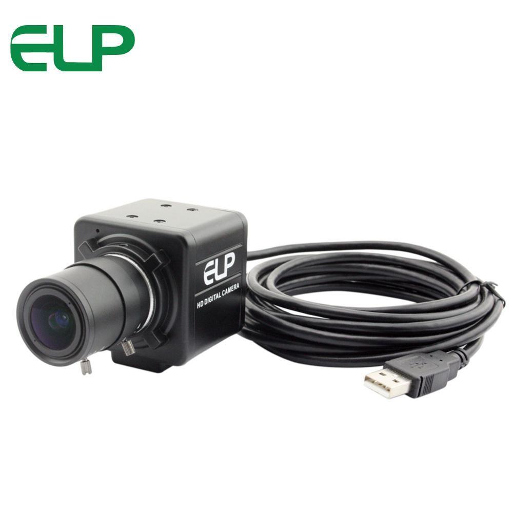 8MP mini usb camera module Machine Vision usb webcam Sony IMX179 2.8-12mm varifocal lens box surveillance usb industrial camera