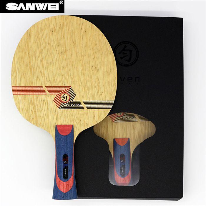 Sanwei BLANC MÊME (BY-1091) Tennis De Table Lame (10 + 9 Carbone Doux, pour 40 +) Raquette Ping Pong Bat