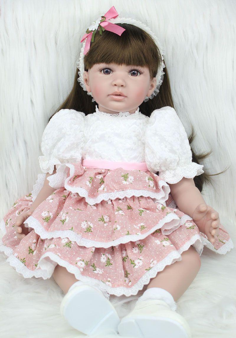 60 см Силиконовые Винил Reborn Baby Doll Игрушечные лошадки реалистичные Модная одежда для детей, Детская мода Обувь для девочек подарок на день рож...