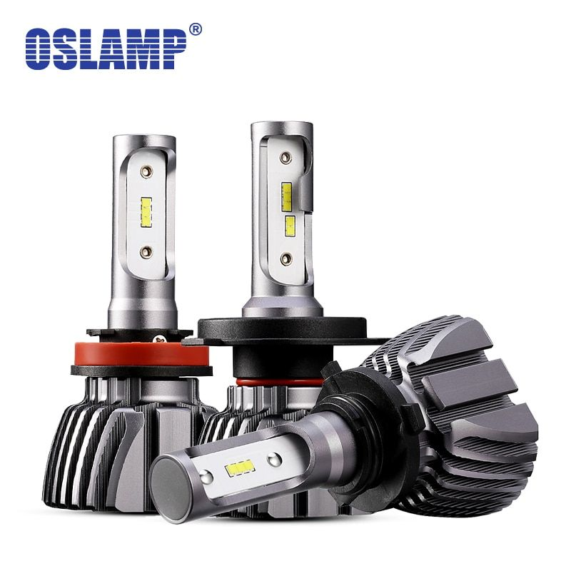 Oslamp LED H4 Car Bulbs 6500K All-in-one H7 LED Headlight Fan-less Auto Lamps SUV 50W CSP <font><b>Chips</b></font> H11 Lamp 9005 9006 H3 H1 Leds