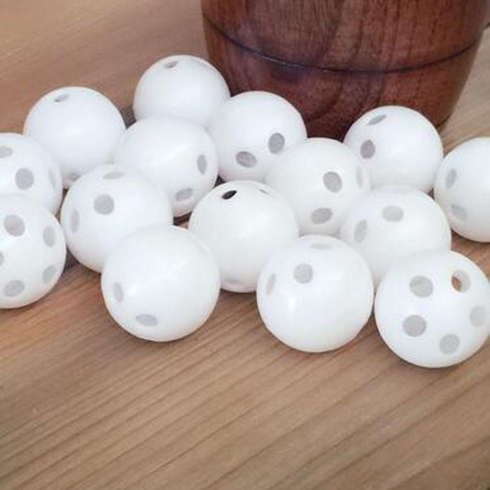 50 pcs/100 pièces 24mm blanc jouet hochet balle réparation remplacer bruit fabricant boîte pour jouet ours poupée