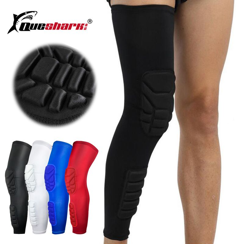 Long Basketball Knee Pads Running Leg Sleeve Calf Knee Brace Support Protector Ski/Snowboard Sport Kneepad Football Shin Guard