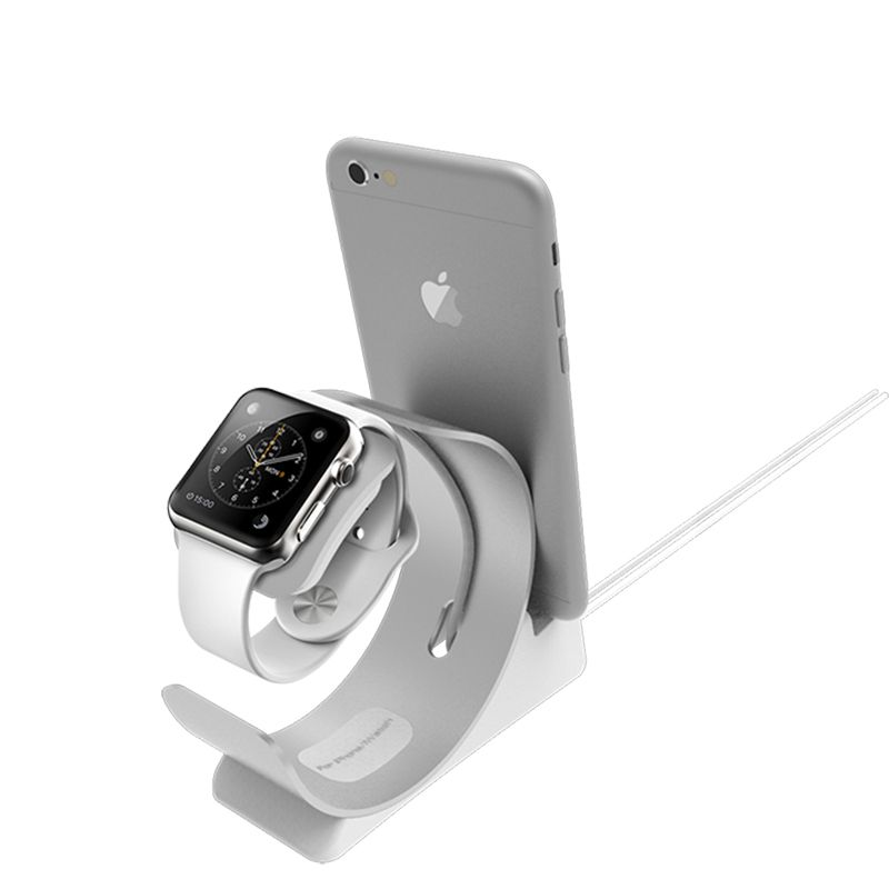 2 in 1 Charger Dock for Apple Watch stand pop socket Desktop Cradle phone Holder base for ipad charger Stand for iPhone support
