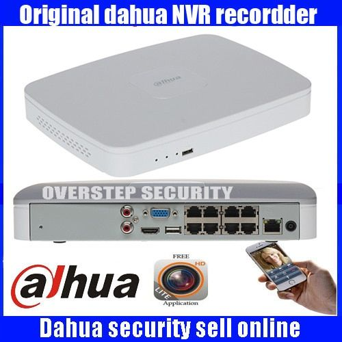 Original English Firmware DAHUA POE DH-NVR4108-8P NVR4116-8P 8ch 16ch NVR with 8 poe ports Smart 1U Mini NVR 1080P Network NVR