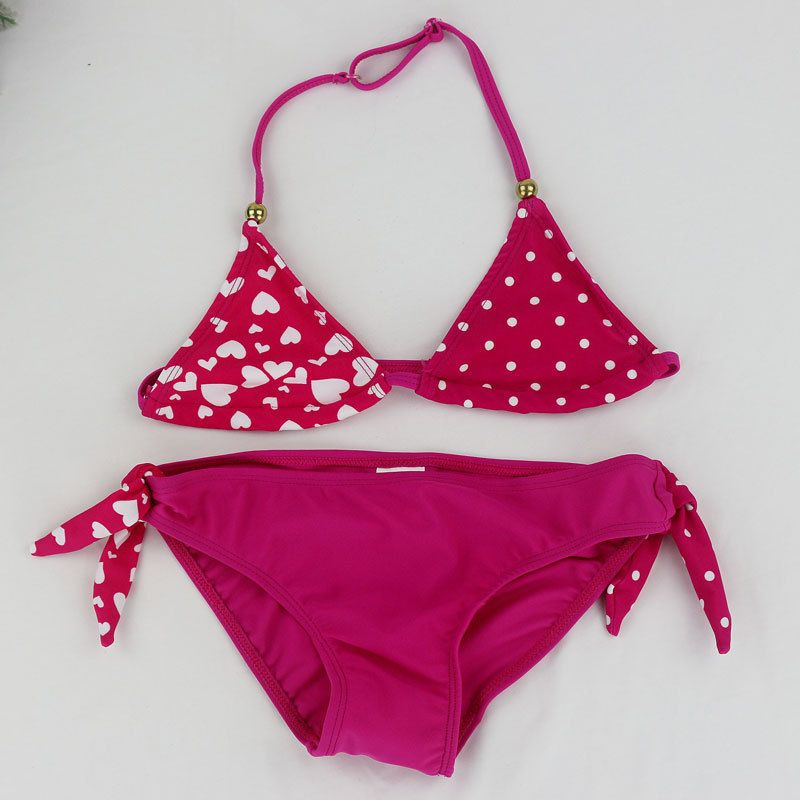 2018 Adolescente Filles Maillots De Bain Bébé Enfants Mignon Bikini Filles répartis en Deux Pièces maillot de bain maillot de bain Beachwear enfants biquini infantil