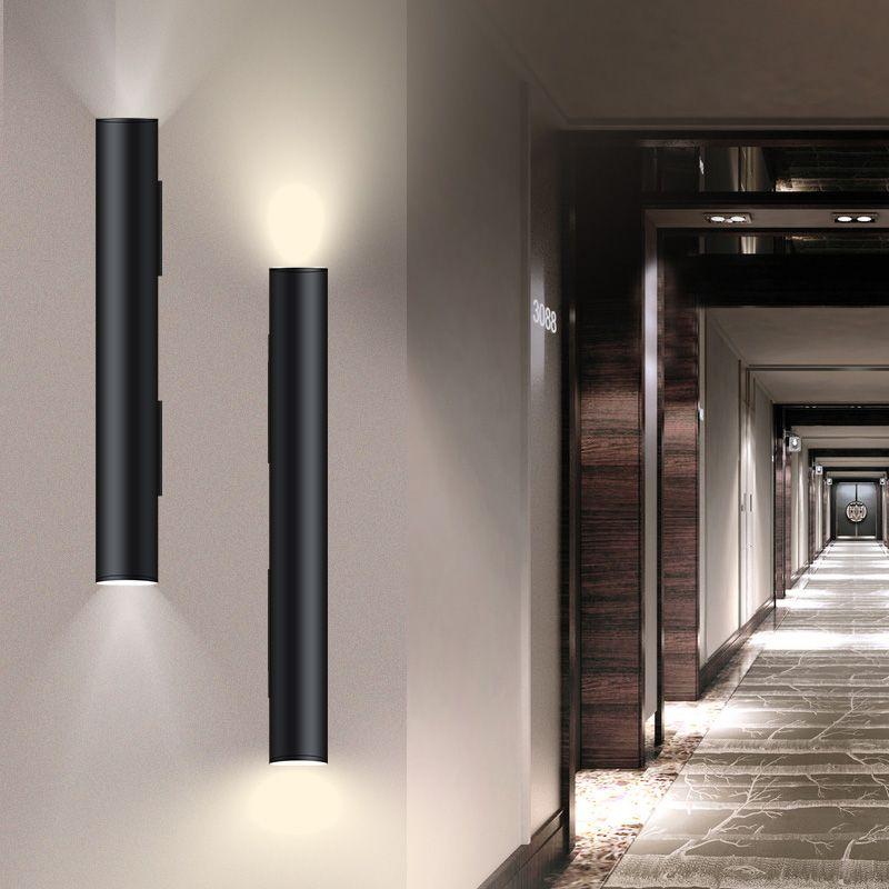 Nordic Modern Brief Cylinder Wall Lamp Bedroom Bedside Iron Wall Sconce Light Corridor Loft Aisle Light Fixture Wall Decor Art