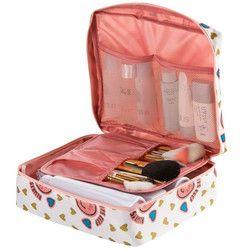 Neceser Femmes Cosmétique Sac Portable de Toilette Multifonction Organisateur Maquillage Waterproof Sac Voyage Zipper Maquillage Beauté De Stockage