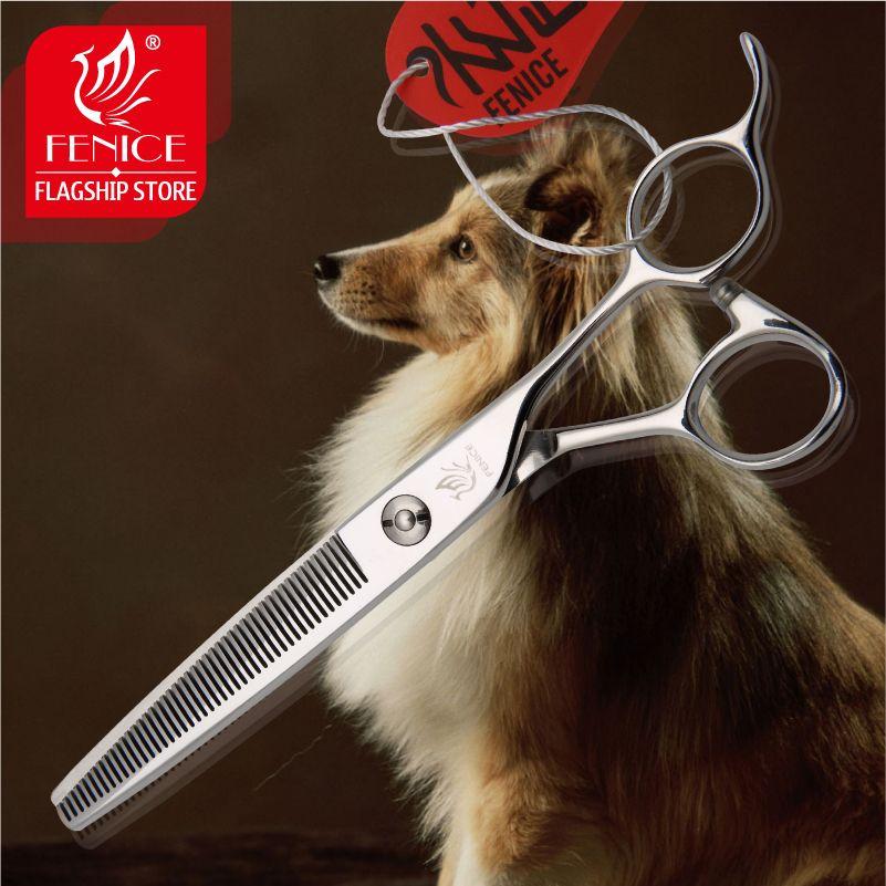 Fenice Professionnel JP440c Amincissement taux sur 30% 6.5 7.0 pouces Haut De gamme Pour Animaux de Compagnie chien toilettage ciseaux ciseaux